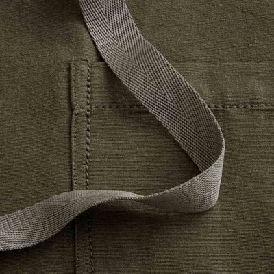Chef's Apron, Olive Green with Tan Straps fabric detail, Men or Women-Reluctant Trading