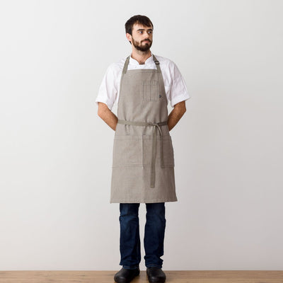Chef's Apron, Beige - Tan with Straps, Men or Women, Restaurant or home-Reluctant Trading