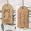 wine gift bag tote canvas modern gift tags