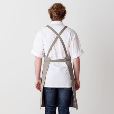 Cross-Back Chef Apron, Tan with Tan Straps, Men and Women-[Reluctant Trading Experiment]-