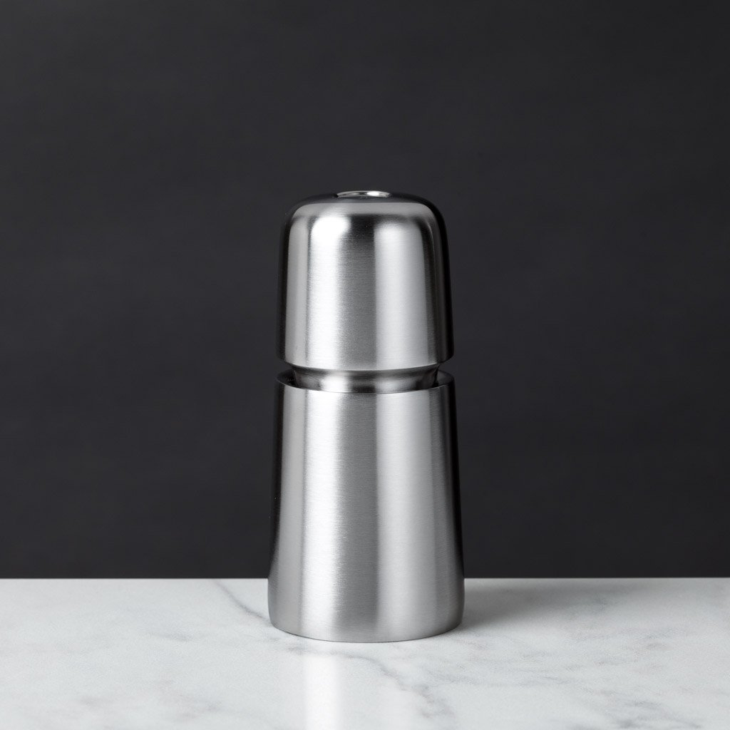 "Jesper Stainless Steel Salt or Pepper Mill, 4.4""h-CrushGrind-The Reluctant Trading Experiment"