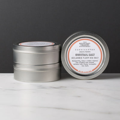 Icelandic Flaky Cocktail Rimming Sea Salt in Gift Tins