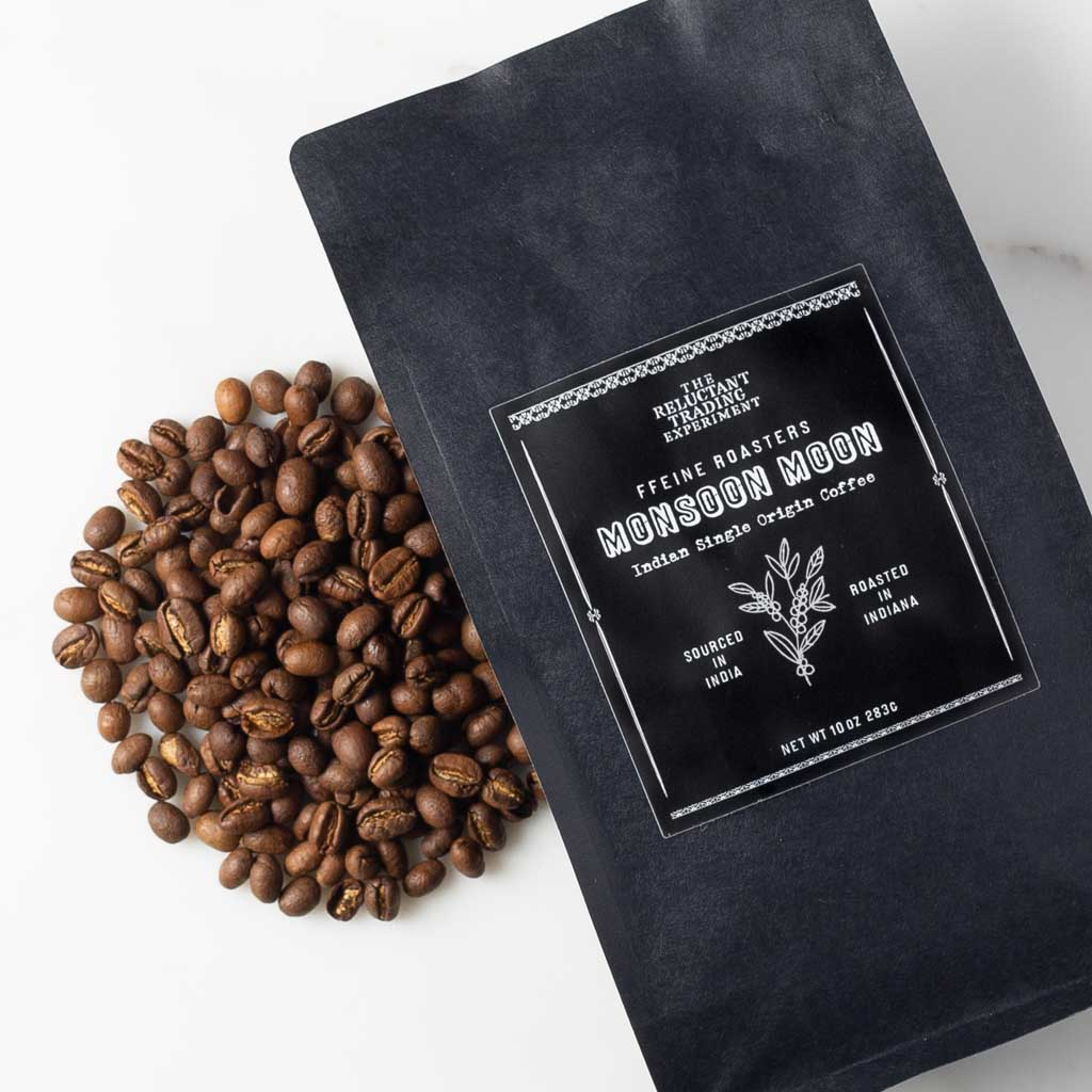Monsoon Moon Peaberry Coffee Whole Bean Coffee