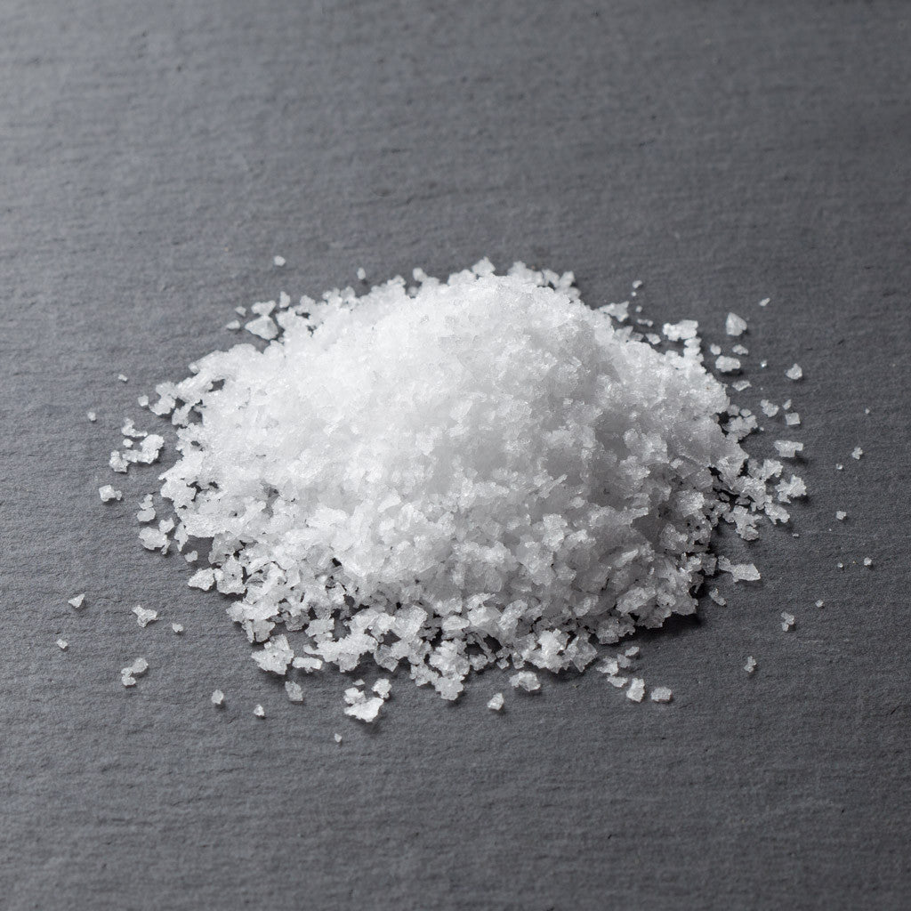 Icelandic Flake Sea Salt, (used by top Copenhagen chefs, clean, no burn, use on crudo, seafood, pasta)