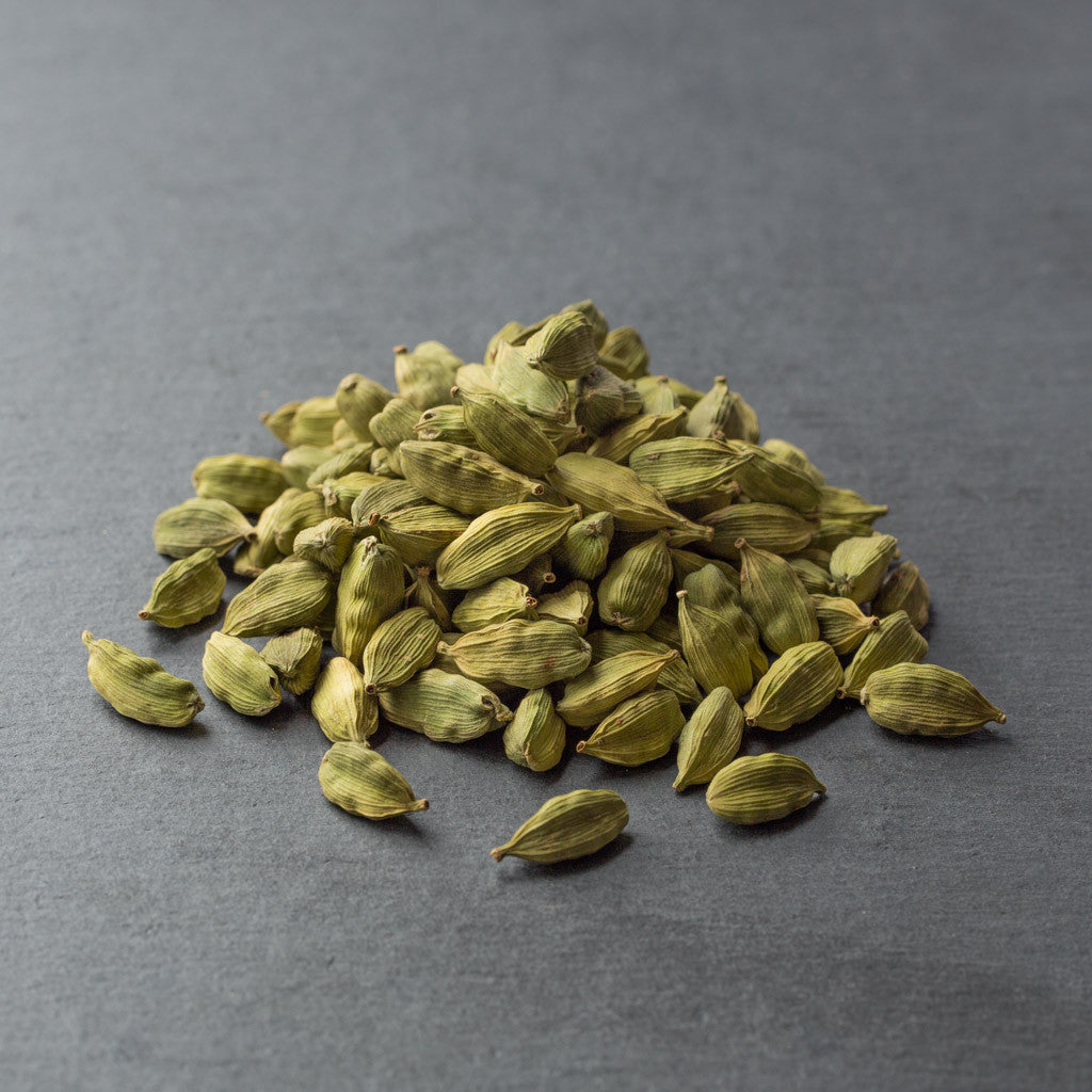 Cardamom, Whole Green Pods (aromatic, sweet, menthol)