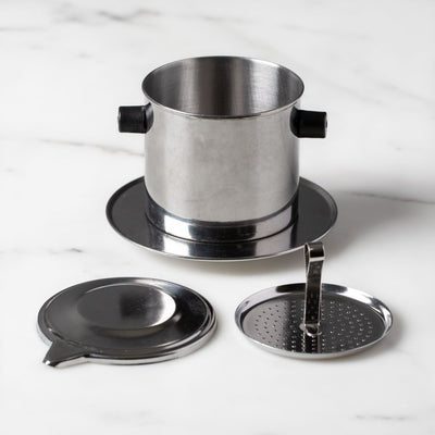 Vietnamese Coffee Filter - Phin, Stainless Steel, Medium-Thang Long-The Reluctant Trading Experiment
