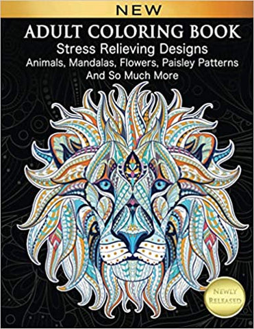 Adult Coloring Book - Stress Relieving Designs