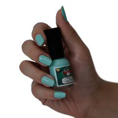 robin's egg blue-green Ueba Esou 'Gofun' natural nail polish