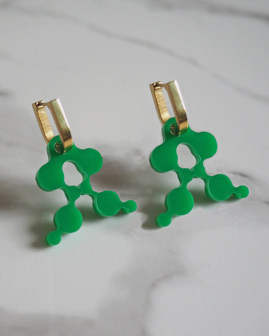 A earrings Emerald Small