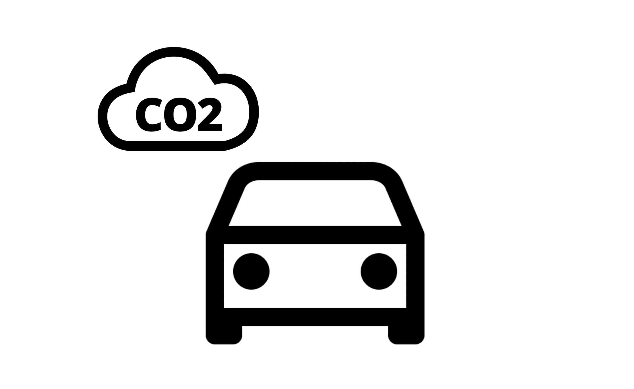 Car and co2 symbol