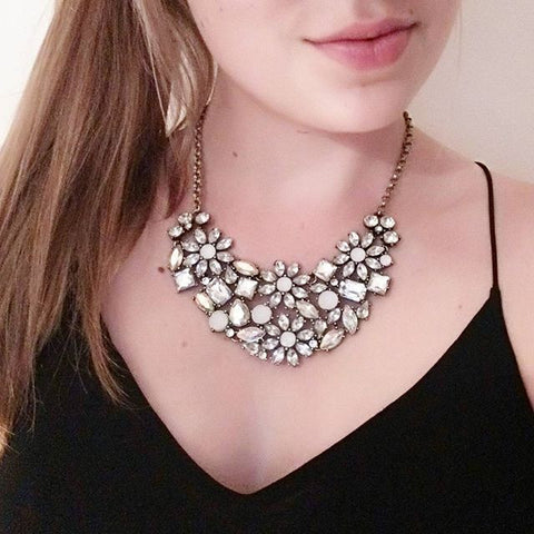Allure Blossom Necklace - Statement Necklace -   - 2