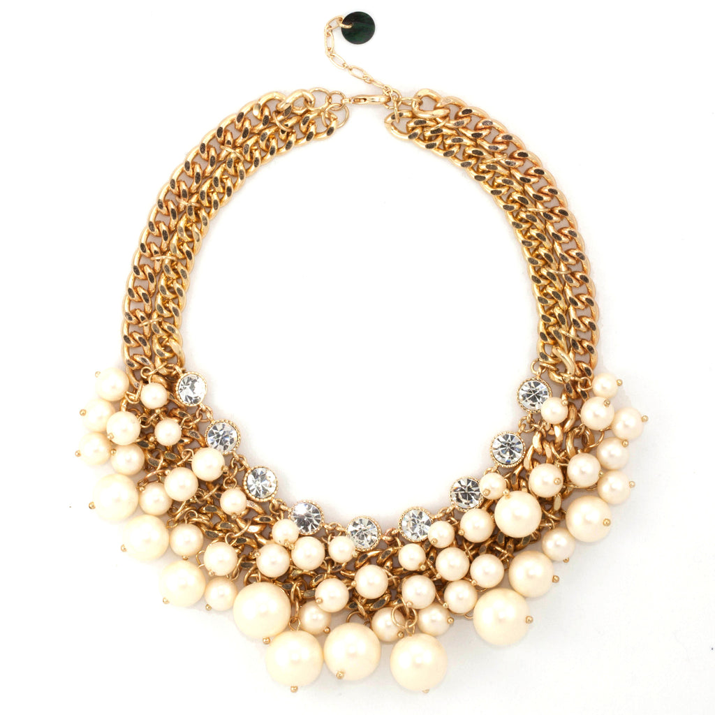 Multus Pearl Necklace - Statement Necklace -   - 1