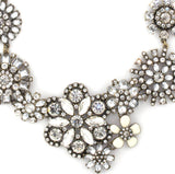 Dimante Blossom Necklace - Statement Necklace -   - 2