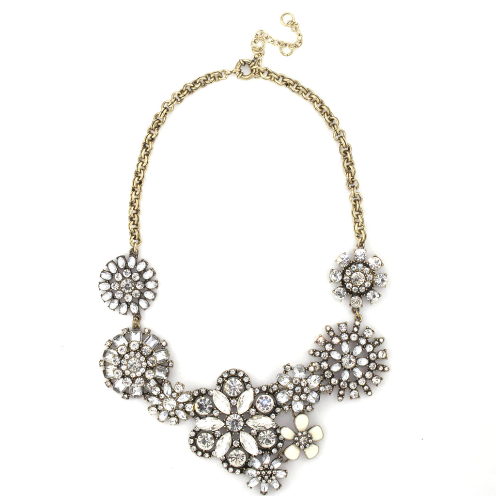 Dimante Blossom Necklace - Statement Necklace -   - 1