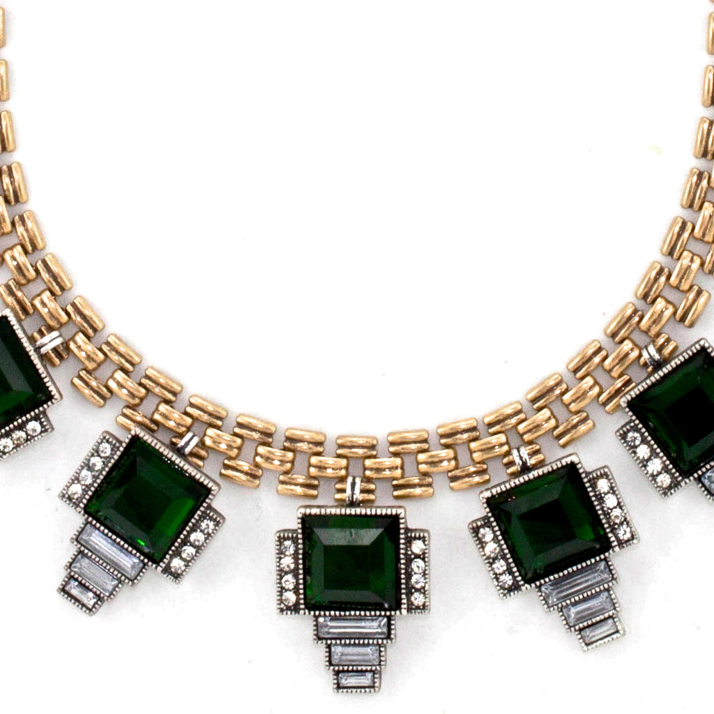 Emerald Emerati  Bib Necklace - Collar Necklace -   - 2