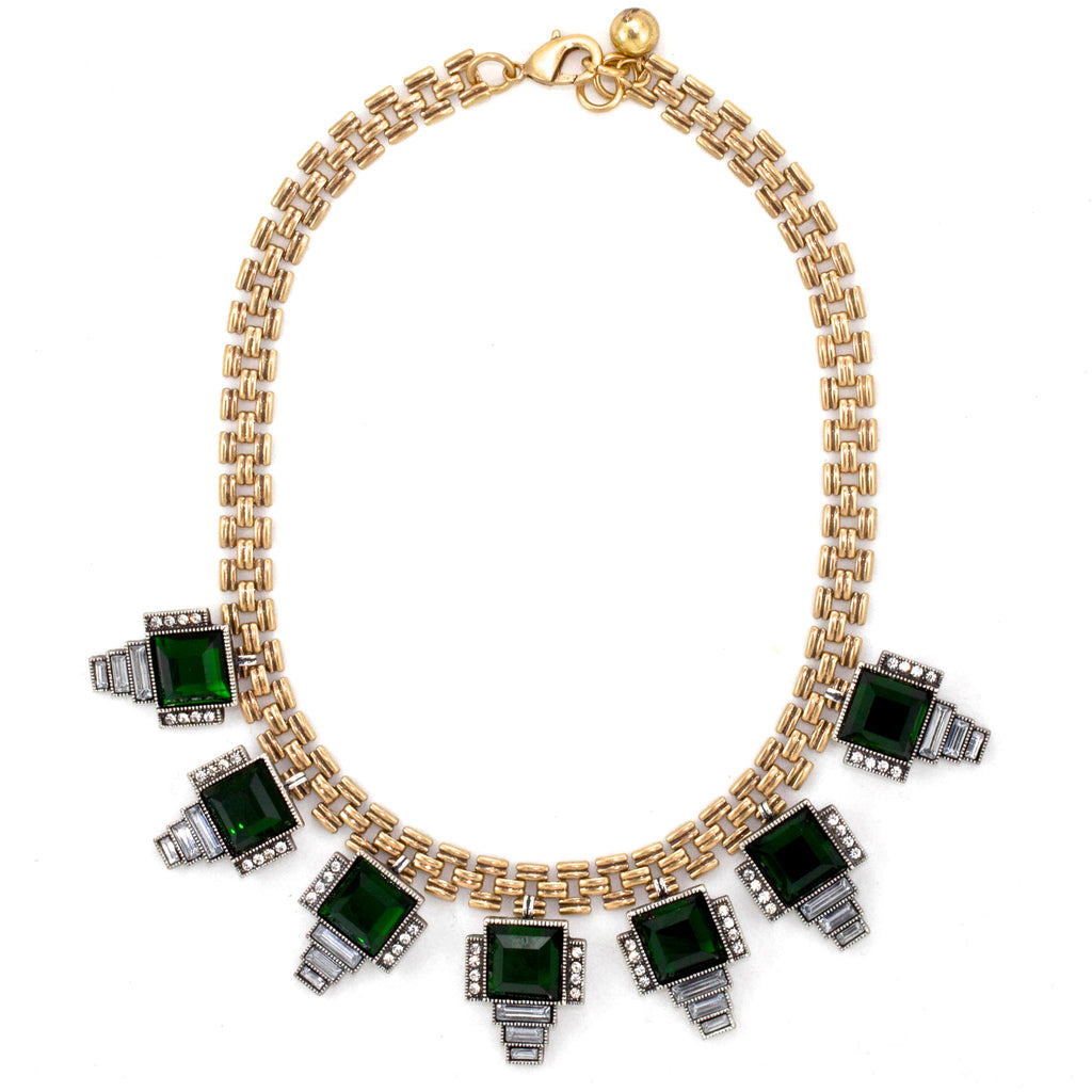 Emerald Emerati  Bib Necklace - Collar Necklace -   - 1