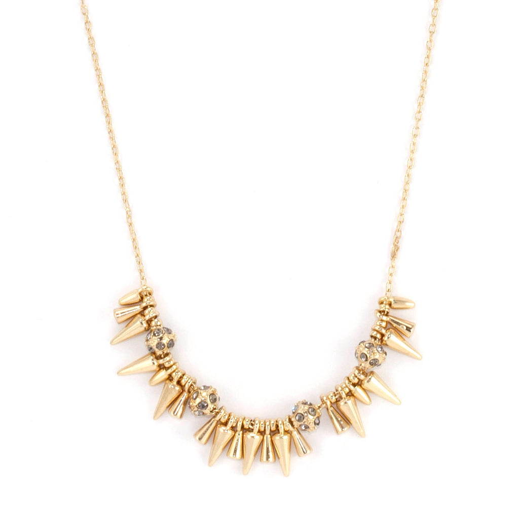 Rivet Mini Spikey Necklace - Delicate Necklace -   - 1