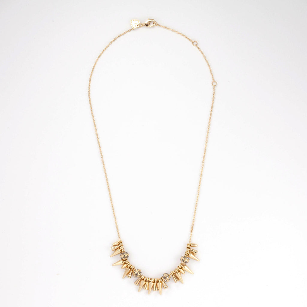 Rivet Mini Spikey Necklace - Delicate Necklace -   - 2