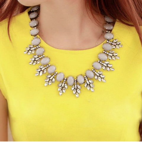 Crystal Dove Necklace - Statement Necklace -   - 2