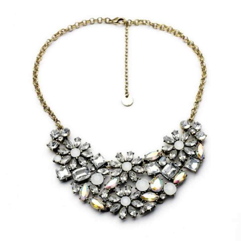 Allure Blossom Necklace - Statement Necklace -   - 1