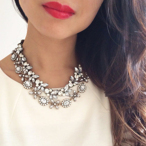 Simple Glam Necklace - Collar Necklace -   - 4