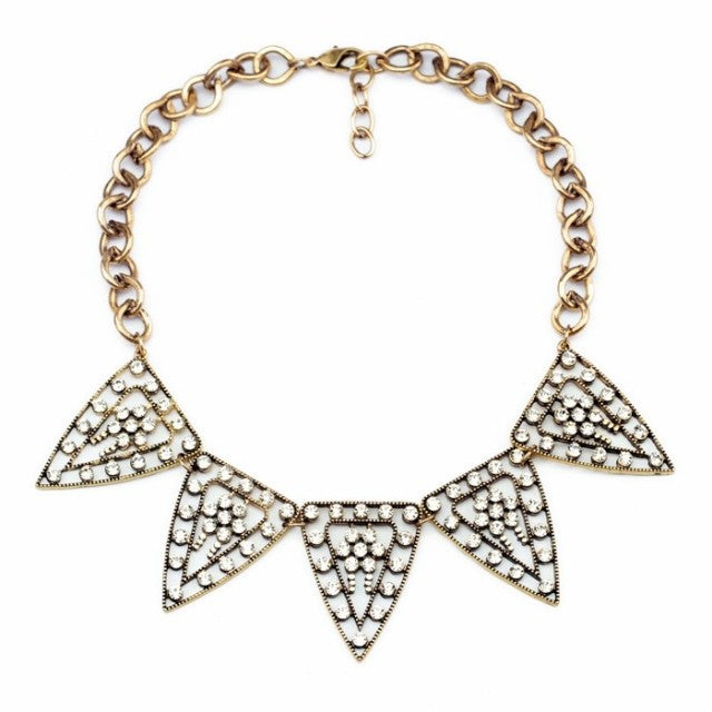 Pyramid Sparkle Necklace - Collar Necklace -   - 1