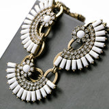Urban Tribal Fan Necklace - Collar Necklace -   - 2