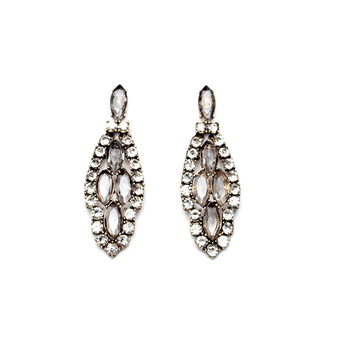 Crystal Tree Earrings - Statement Earrings -   - 1