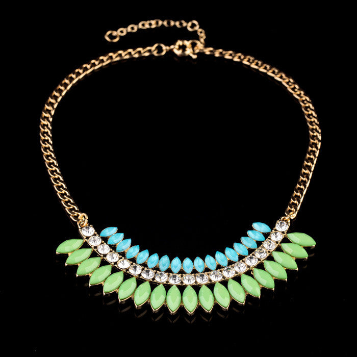 Minty Tropic Necklace - Collar Necklace -   - 2
