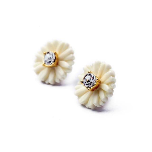 Petite Daisy Stud Earrings - Stud Earrings -   - 2