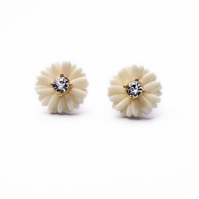 Petite Daisy Stud Earrings - Stud Earrings -   - 1