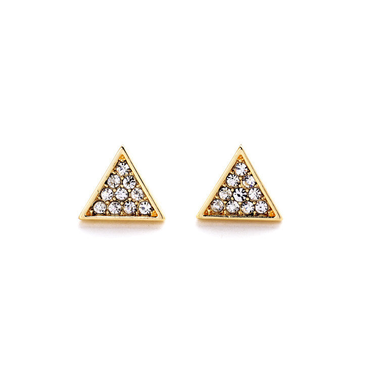 Modern Triangle Earrings - Stud Earrings -