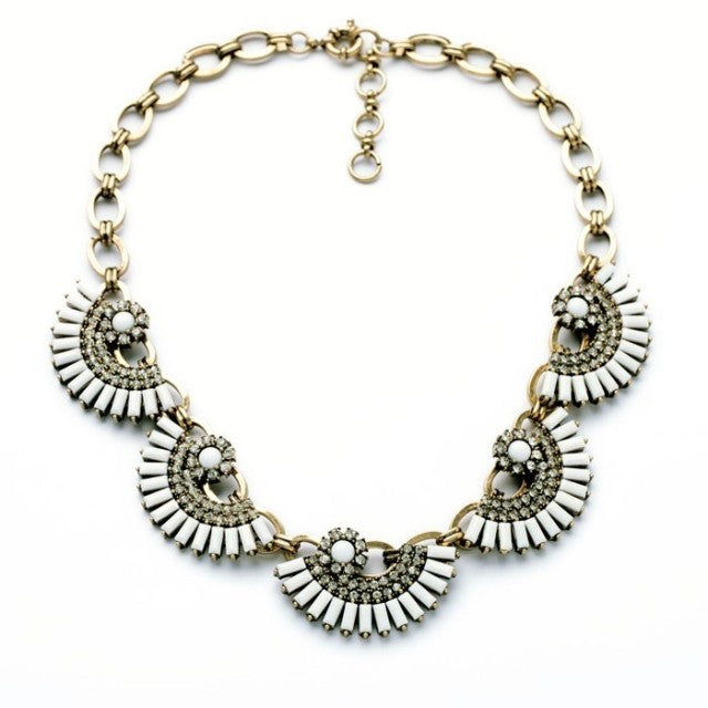 Urban Tribal Fan Necklace - Collar Necklace -   - 1