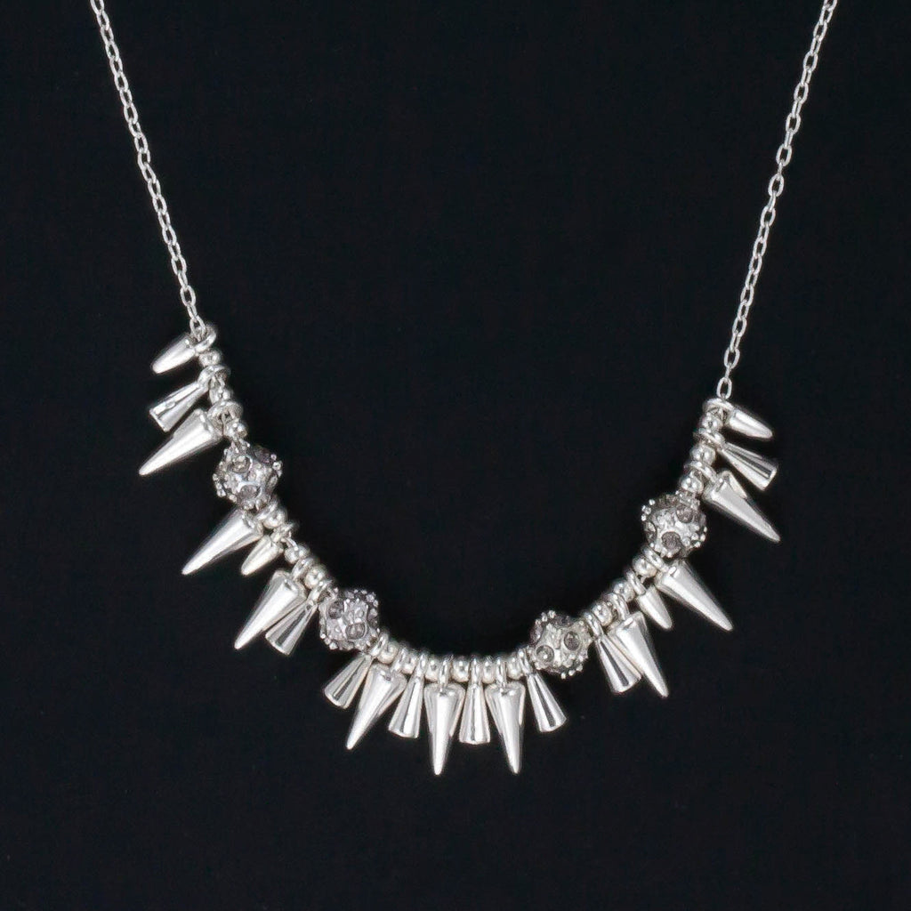 Rivet Mini Spikey Necklace - Delicate Necklace -   - 3