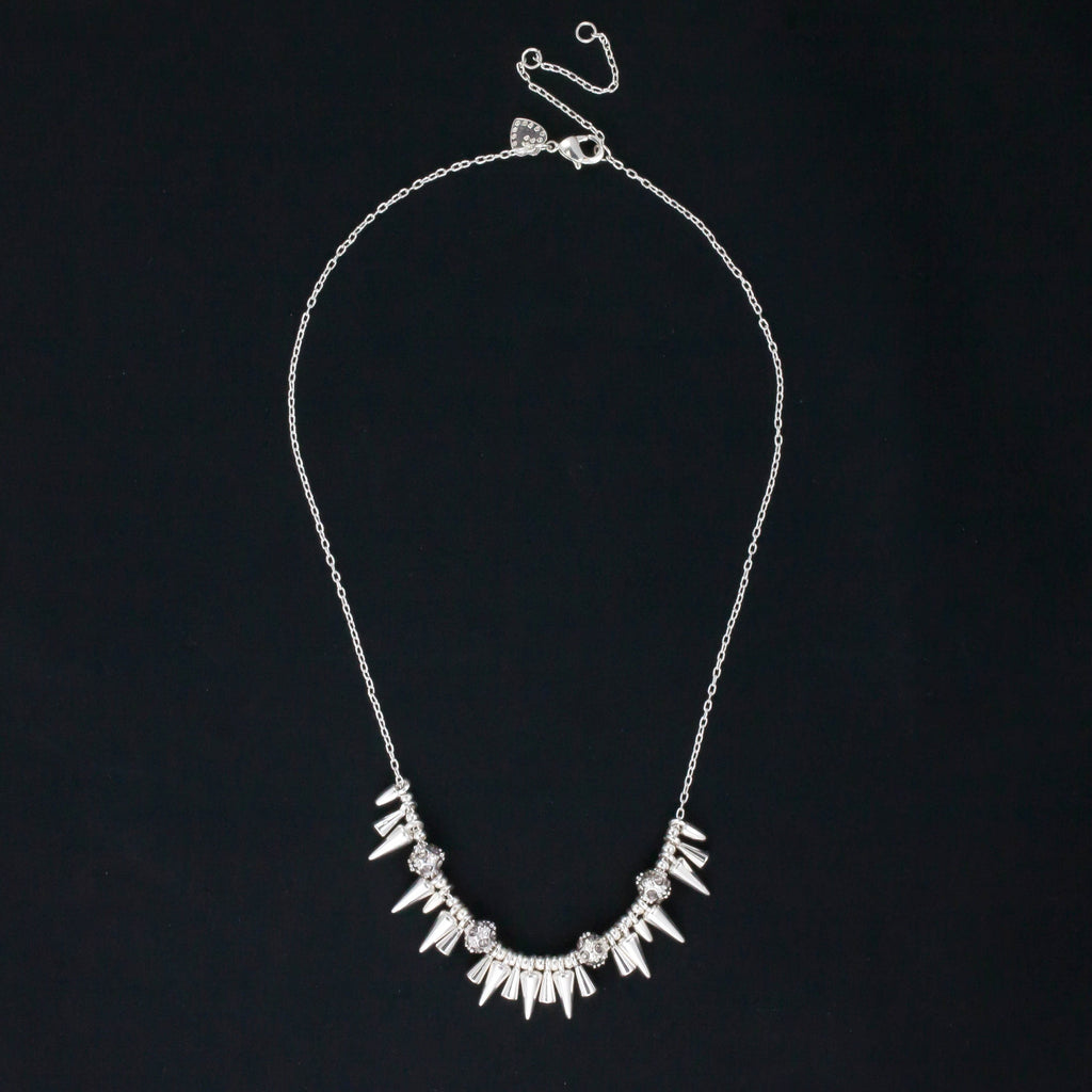 Rivet Mini Spikey Necklace - Delicate Necklace -   - 4