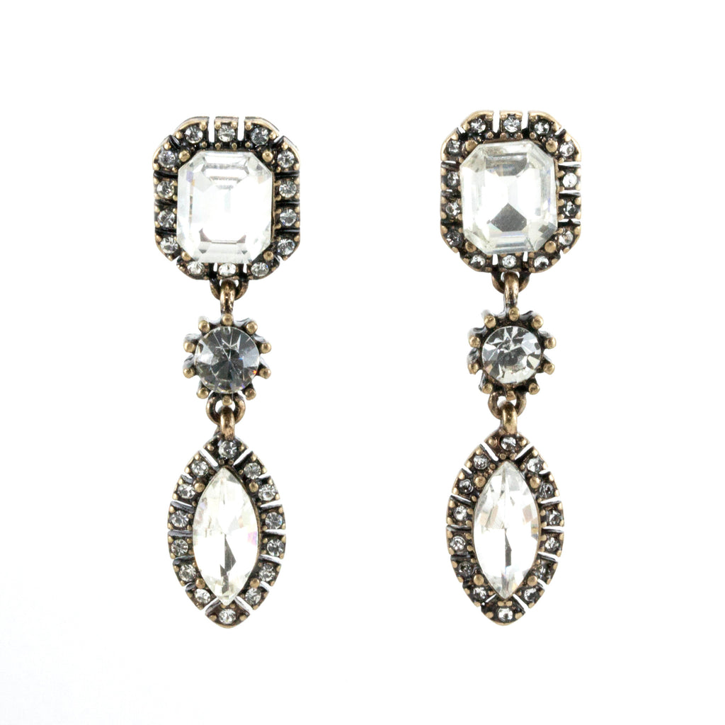 Petioly Diamond Earrings - Drop Earrings -   - 1