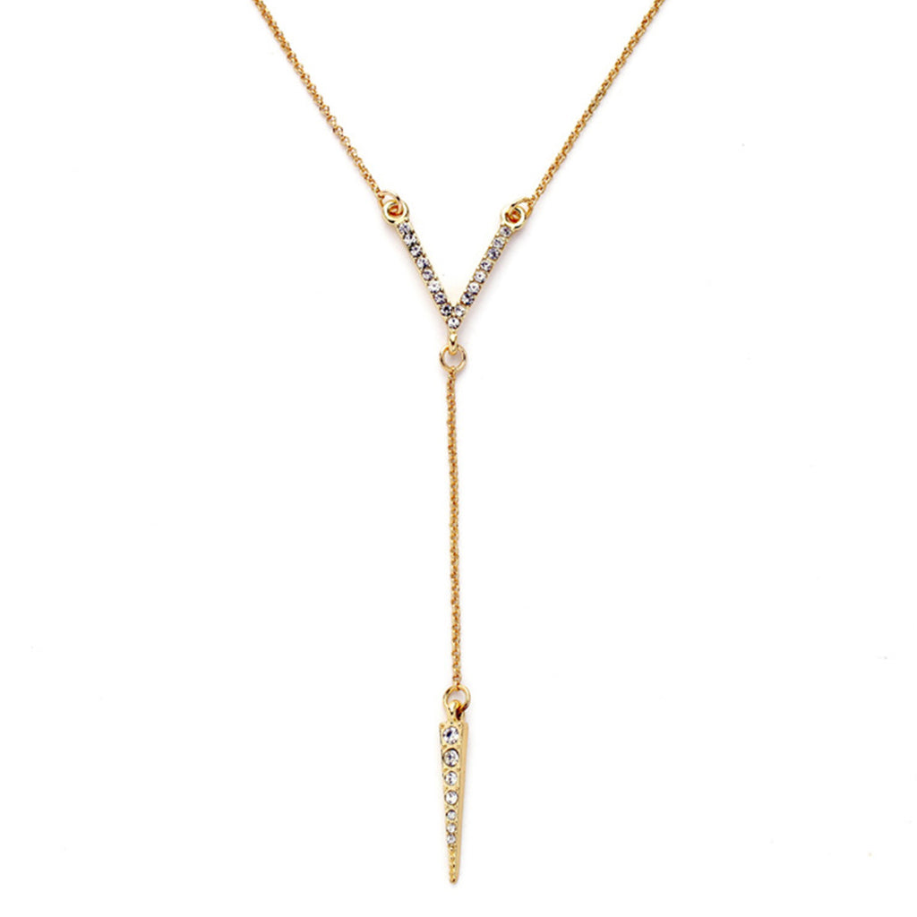 Paved Victory Y necklace - Long Necklace -   - 1