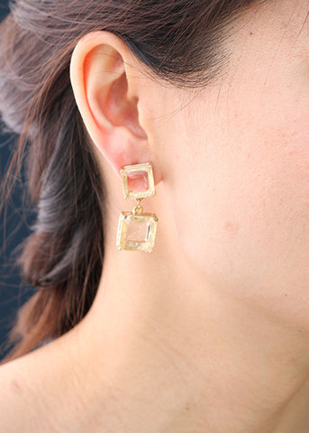 Auric Crystal Earrings - Drop Earrings -   - 2