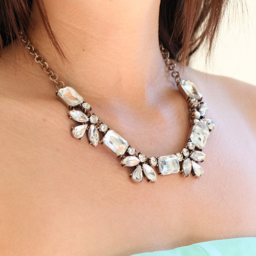 Azura Necklace - Clear - Collar Necklace -   - 3