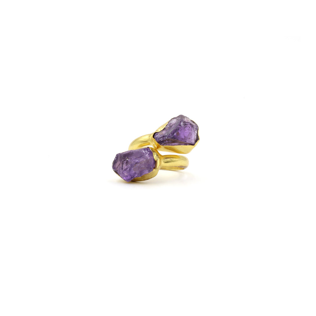 Duo Badala Stone Ring - Ring -  Purple - 4