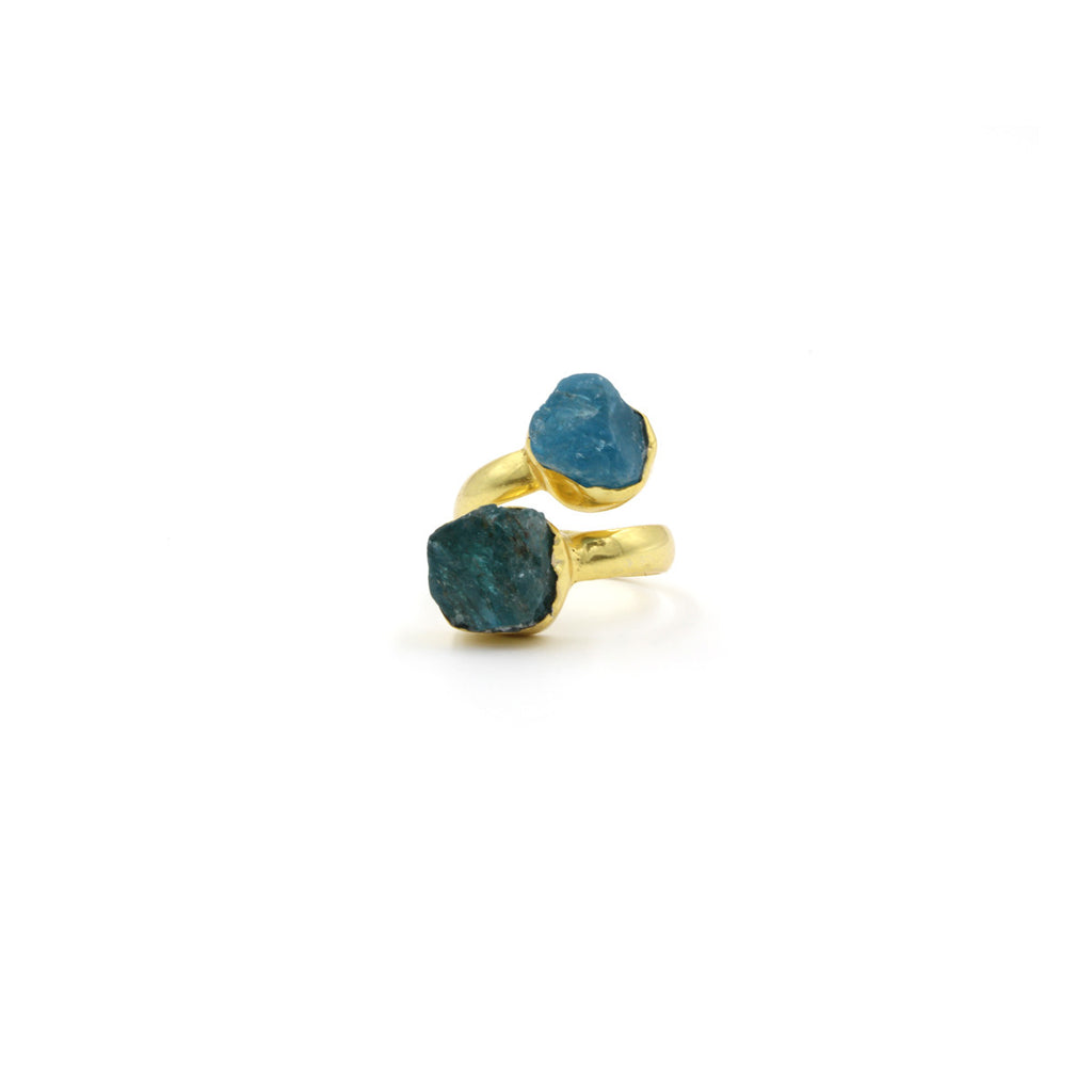 Duo Badala Stone Ring - Ring -  Green - 5