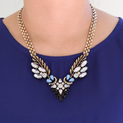 Tribal Myst Crystal Necklace - Collar Necklace -   - 3