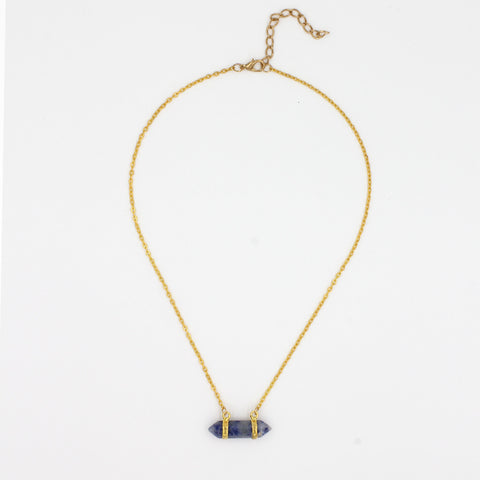 Modern Stonebar Necklace - Delicate Necklace -   - 5