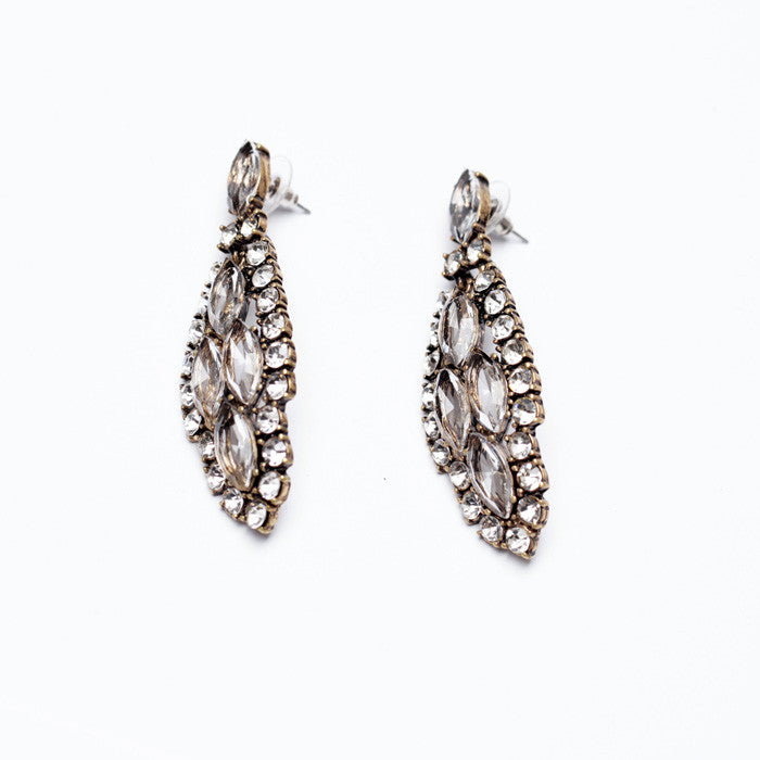 Crystal Tree Earrings - Statement Earrings -   - 2