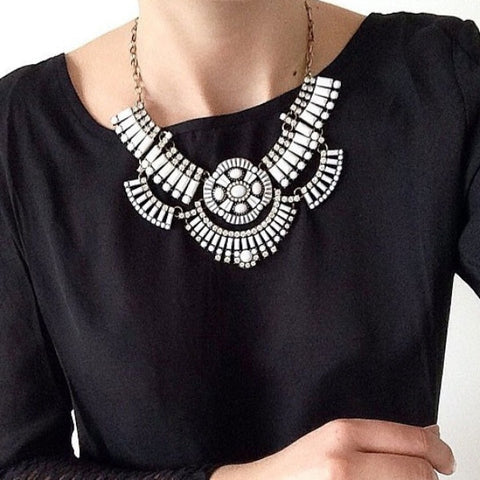 Urban Tribal Bib Necklace - Statement Necklace -   - 4