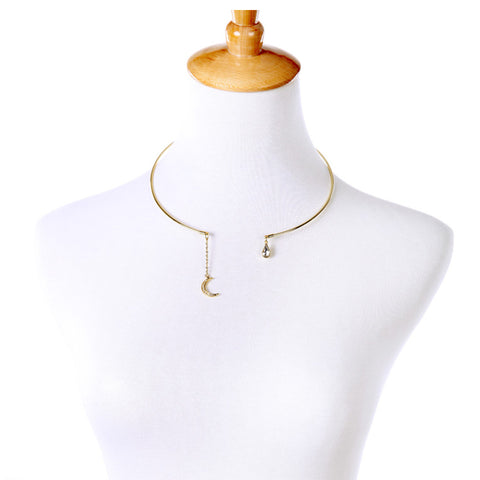 Cresent Tears Choker - Collar Necklace -   - 2