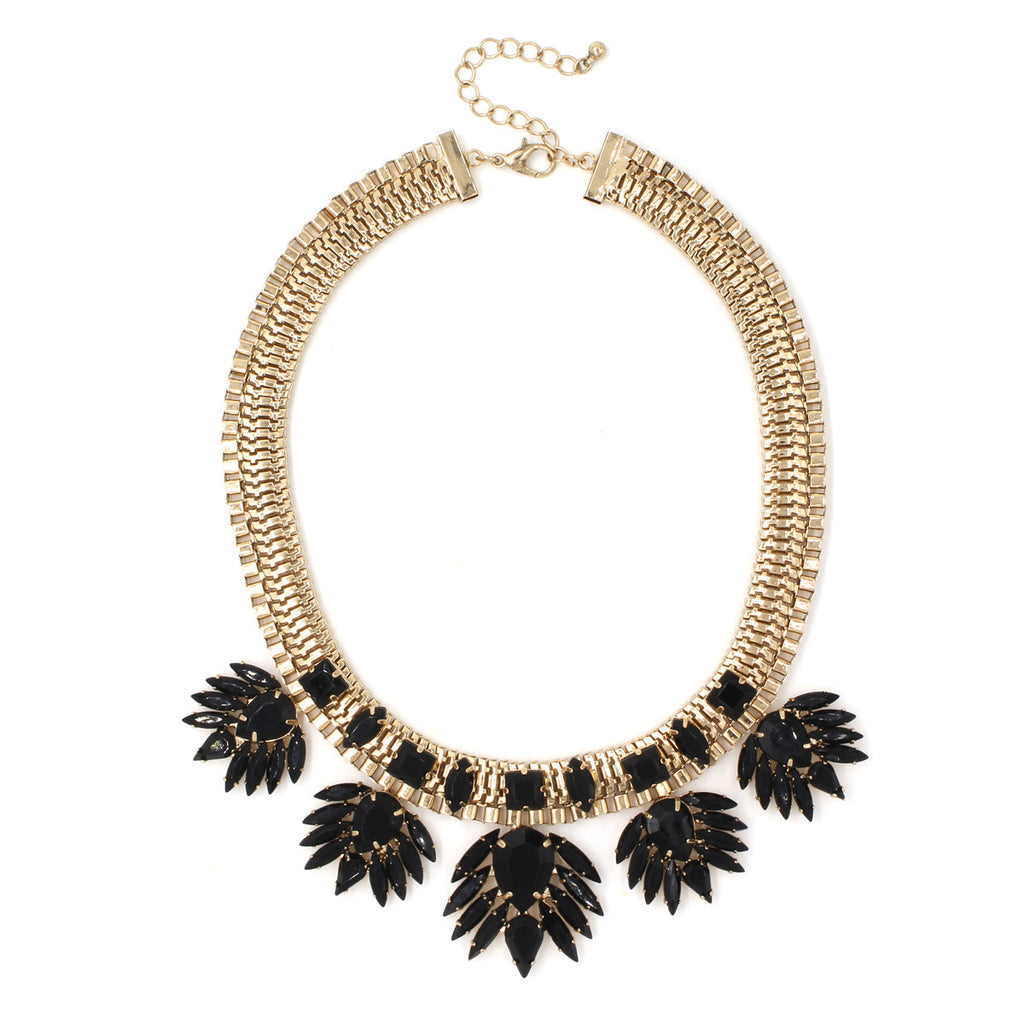 Bliss Link Necklace - Statement Necklace -  Black - 1