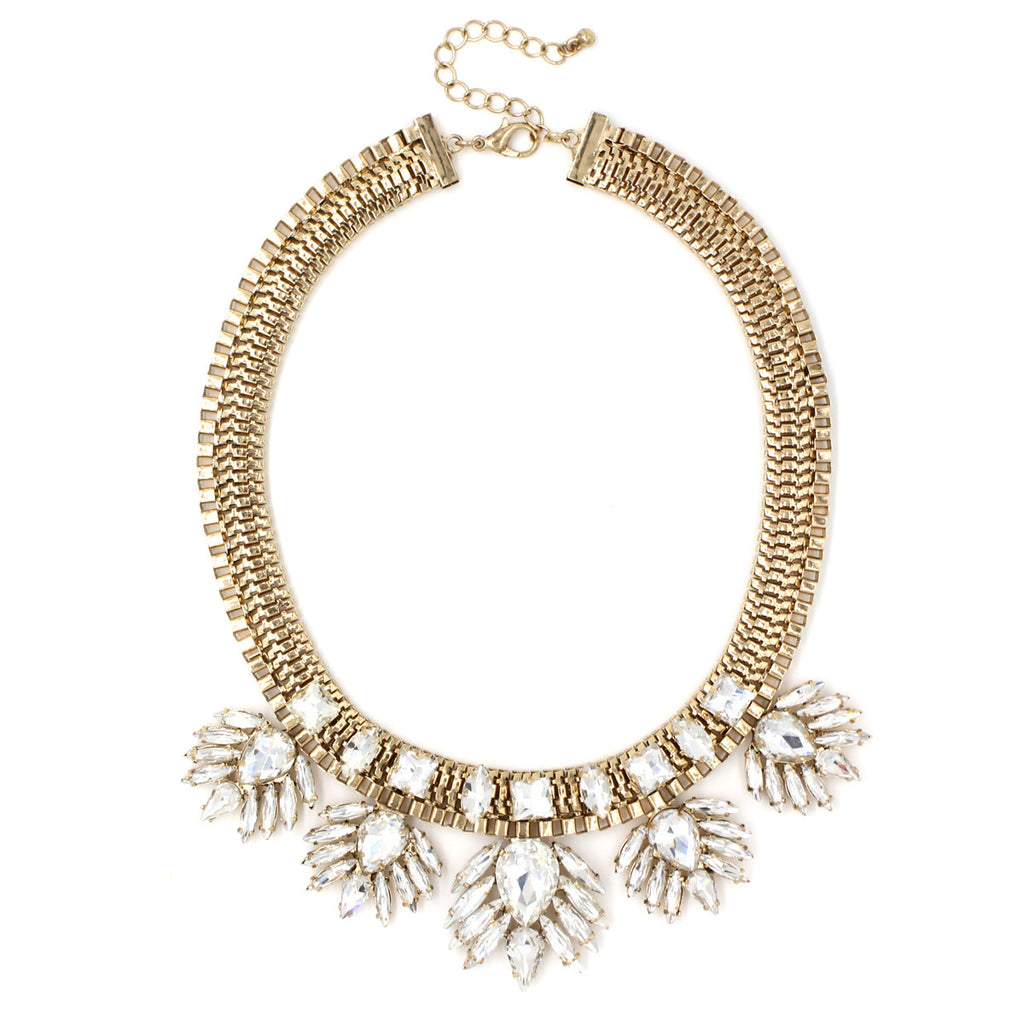 Bliss Link Necklace - Statement Necklace -  Crystal - 2
