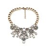 Crystal pompon Necklace - Statement Necklace -   - 1