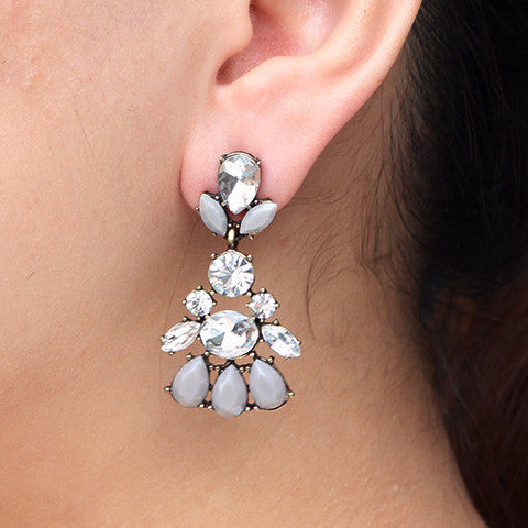 Crystal Dove Earrings - Drop Earrings -   - 3